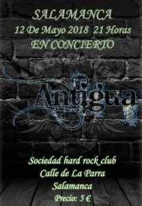 La Sociedad Hard Rock Club Antigua Salamanca Mayo 2018