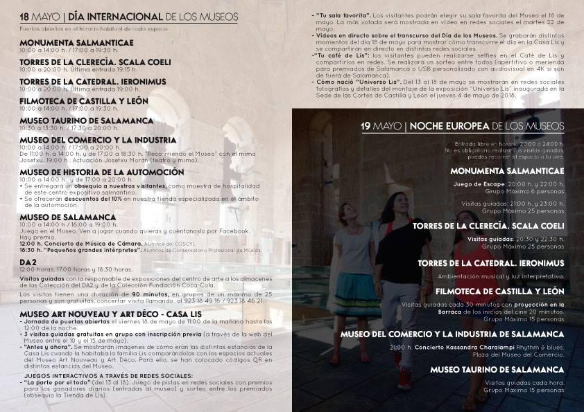 Salamanca Día Internacional de los Museos Mayo 2018 y...