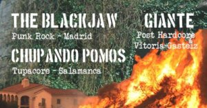 Trece Monos The Blackjaw + Giante + Chupando Pomos Salamanca Mayo 2018