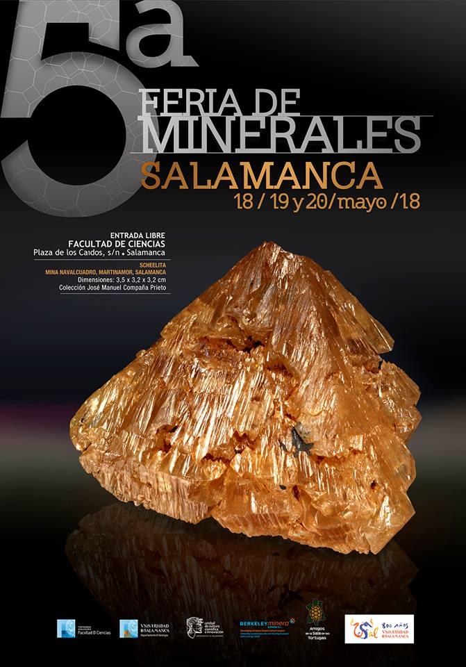 Ciencias y Ciencias Químicas V Feria de Minerales Salamanca Mayo 2018
