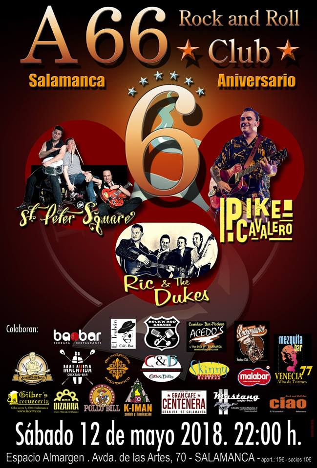 Espacio Almargen VI Aniversario A66 Rock and Roll Club Salamanca Mayo 2018