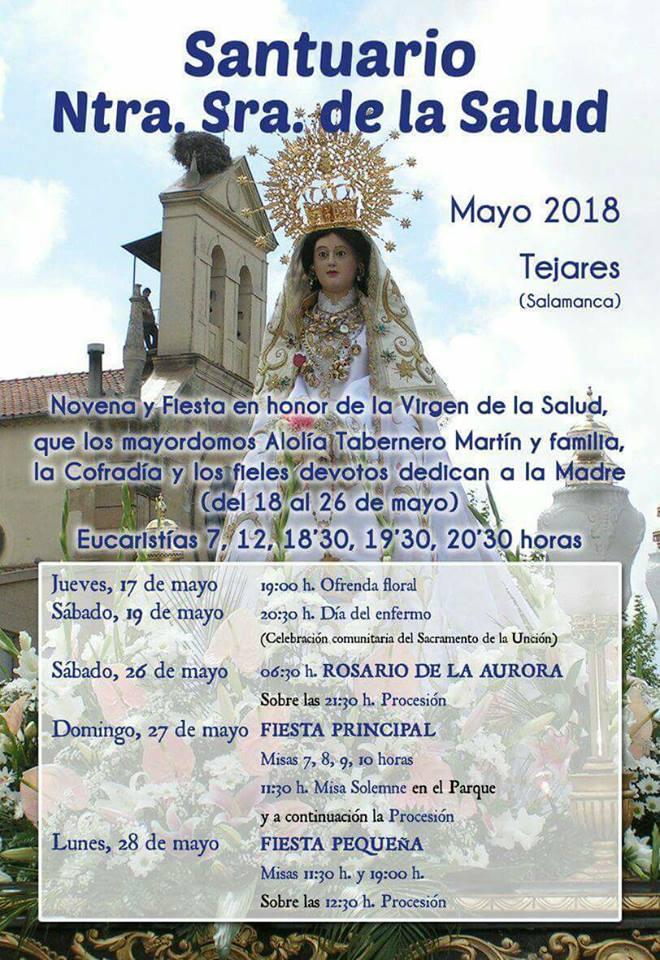 Salamanca Fiestas de la Virgen de la Salud Tejares Mayo 2018