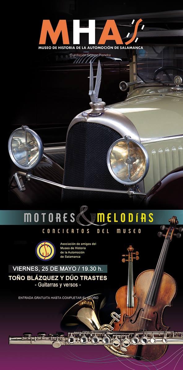 Museo de Historia de la Automoción de Salamanca MHAS Toño Blázquez y Dúo Trastes Salamanca Mayo 2018