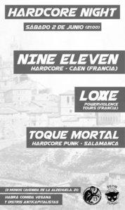 Trece Monos Nine Eleven + Løvve + Toque mortal Salamanca Junio 2018.