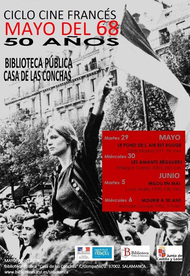 Casa de las Conchas Ciclo de Cine Francés Mayo del 68. 50 años Salamanca 2018