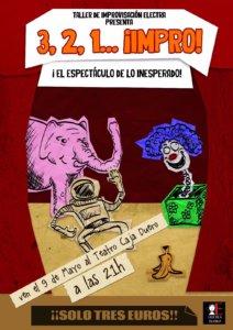 Sala Micenas Adarsa 3, 2, 1... ¡Impro! Salamanca Mayo 2018