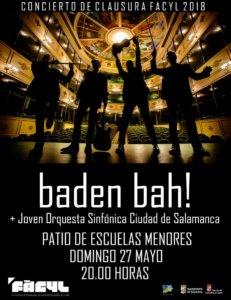 FÀCYL 2018 Baden Bah! + Joven Orquesta Sinfónica Ciudad de Salamanca Mayo