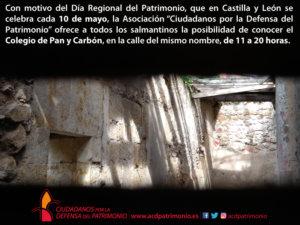 Colegio de Pan y Carbón Día Regional del Patrimonio Salamanca Mayo 2018