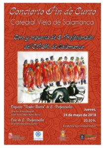 Catedral Vieja Coro de Enseñanzas Profesionales y Orquesta Tomás Bretón Salamanca Mayo 2018