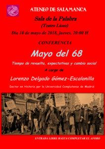 Teatro Liceo Mayo del 68 Ateneo de Salamanca Mayo 2018