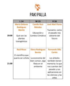Pakipalla Festival Pint of Science Salamanca Mayo 2018