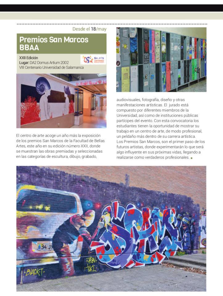 Domus Artium 2002 DA2 XXII Premios San Marcos Universidad de Salamanca Mayo junio 2018