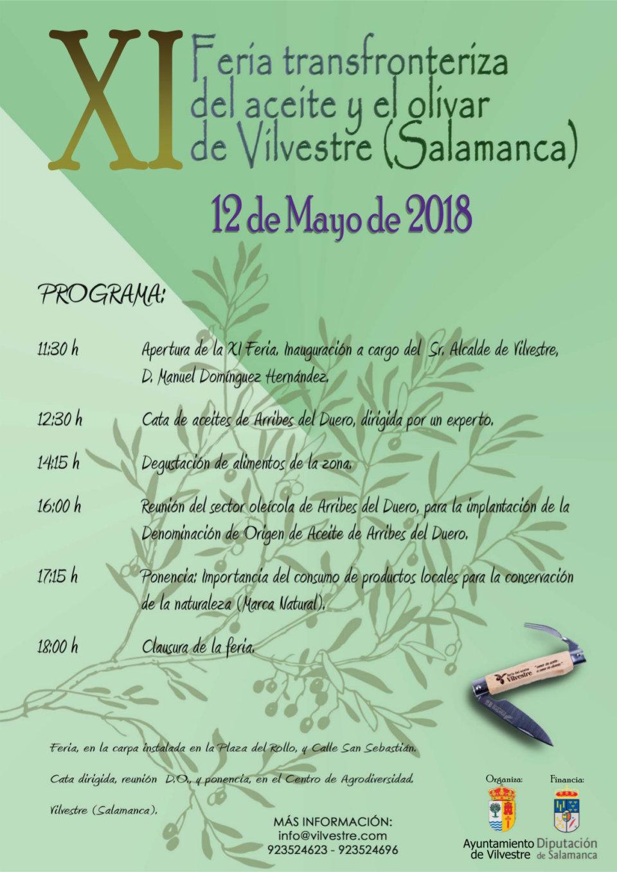 Vilvestre XI Feria Transfronteriza del Aceite y el Olivar Mayo 2018