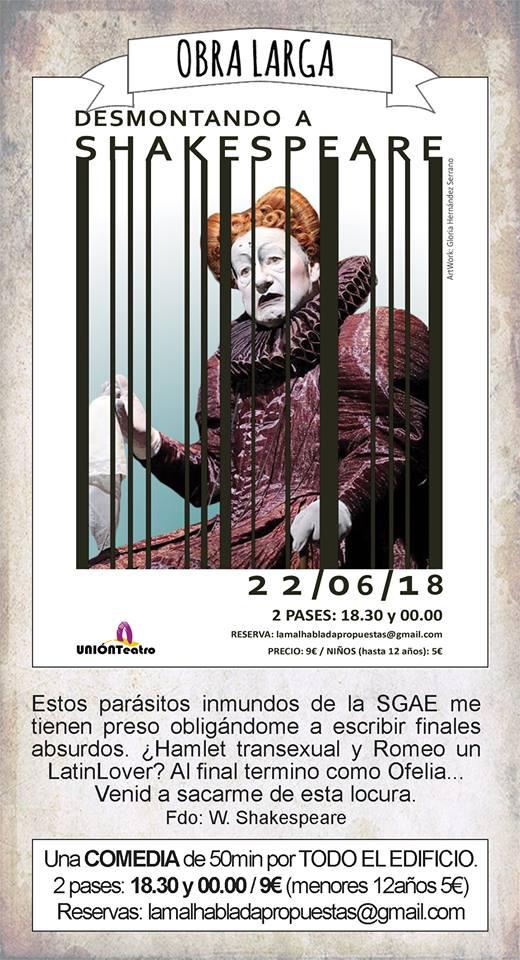 La Malhablada Desmontando a Shakespare Salamanca Junio 2018
