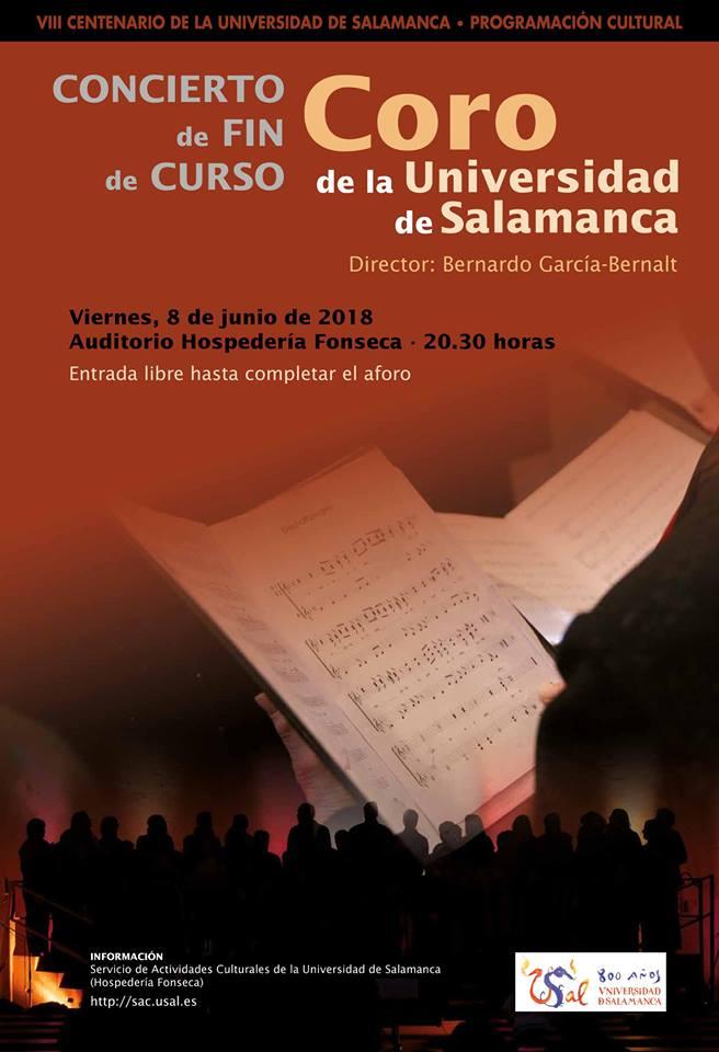 Hospedería Fonseca Coro de la Universidad de Salamanca Junio 2018