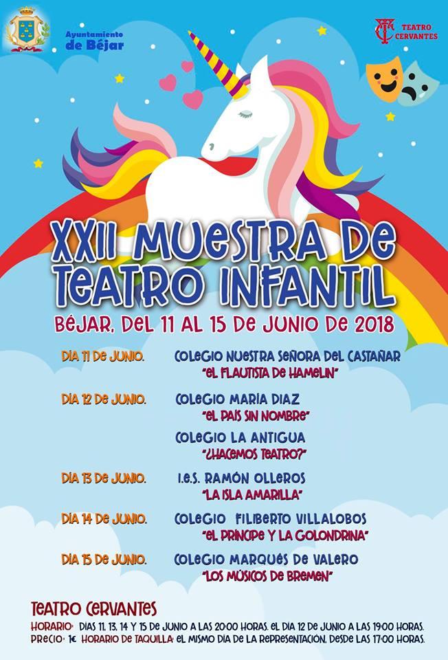 Teatro Cervantes XXII Muestra de Teatro Infantil Béjar Junio 2018