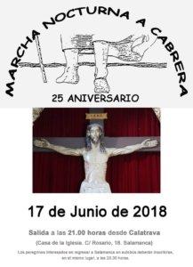 Casa de la Iglesia Marcha Nocturna al Cristo de Cabrera Salamanca Junio 2018