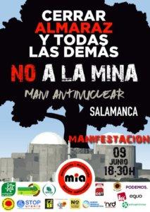 Plaza de la Concordia Manifestación No a la mina Salamanca Junio 2018