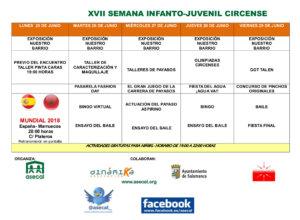 Programa Salamanca XVII Semana Infanto Juvenil Circo Asecal Junio 2018