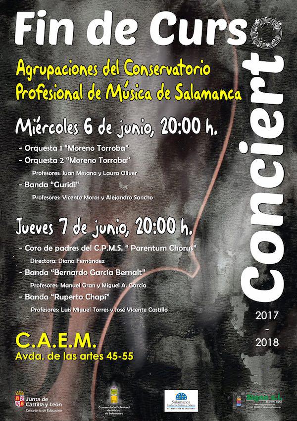 Centro de las Artes Escénicas y de la Música CAEM Agrupaciones del Conservatorio Profesional de Música de Salamanca Junio 2018