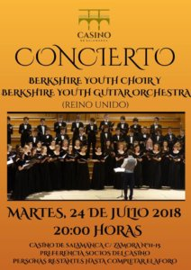 Casino de Salamanca Berkshire Youth Choir Julio 2018