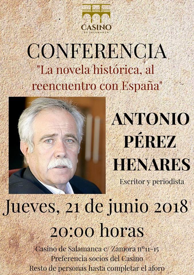 Casino de Salamanca La Novela Histórica, al Reencuentro con España Junio 2018