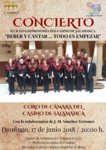 Casino de Salamanca Coro de Cámara Junio 2018