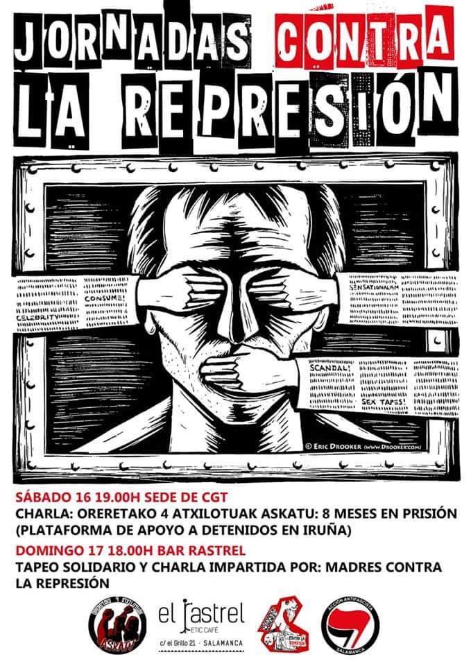 El Rastrel Jornadas contra la Represión Salamanca Junio 2018