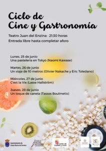 Aula Teatro Juan del Enzina Ciclo de Cine y Gastronomía Salamanca Junio 2018