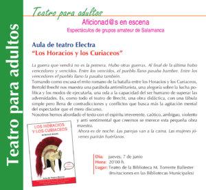 Torrente Ballester Los Horacios y los Curiaceos Salamanca Junio 2018