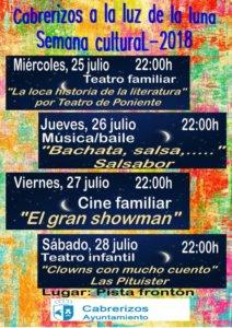 Cabrerizos Semana Cultural 2018 Julio