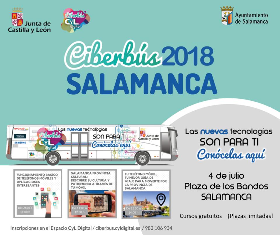 Plaza de los Bandos Ciberbús 2018 Salamanca Julio