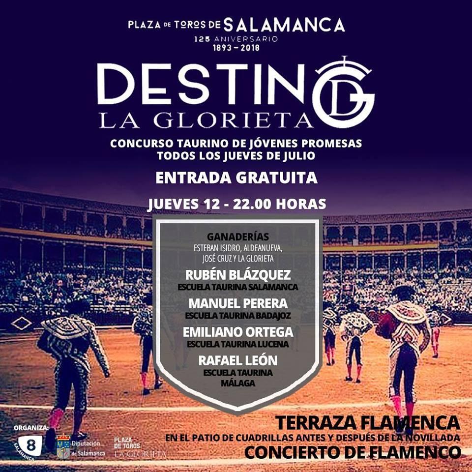 Plaza de Toros La Glorieta Concurso Taurino de Jóvenes Promesas 12 de julio de 2018 Salamanca