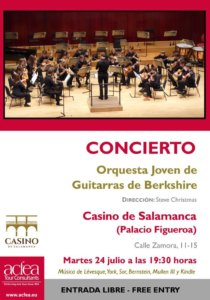 Casino de Salamanca Berkshire Youth Guitar Orchestra Julio 2018