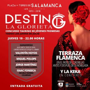 Plaza de Toros La Glorieta Concurso Taurino de Jóvenes Promesas 19 de julio de 2018 Salamanca