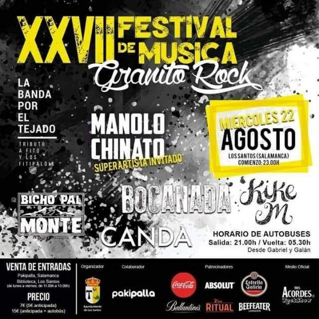 Los Santos XXVII Festival de Música Granito Rock Agosto 2018