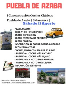 Puebla de Azaba I Concentración de Coches Clásicos Agosto 2018