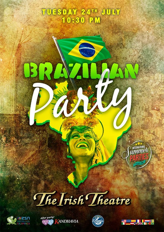 The Irish Theatre Brazilian Party Salamanca Julio 2018