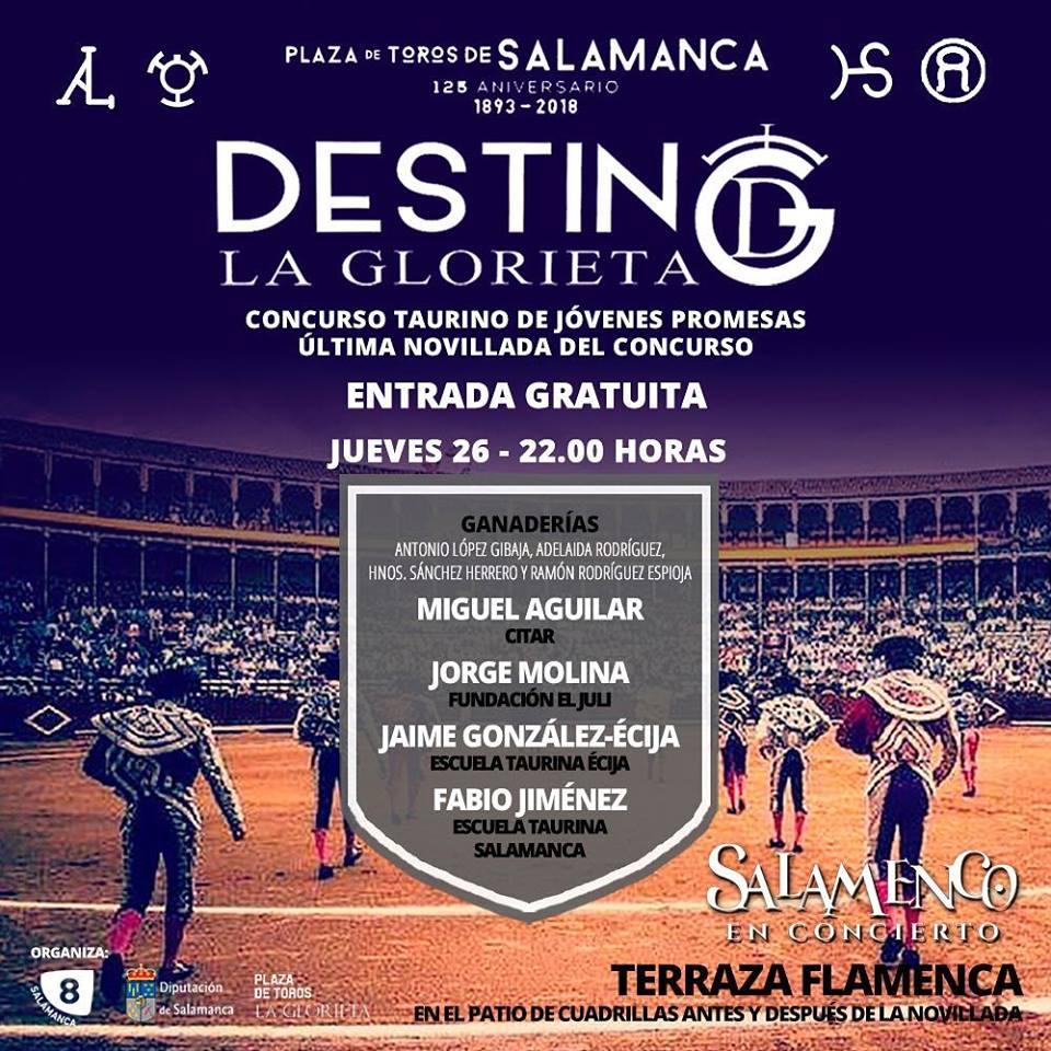 Plaza de Toros La Glorieta Concurso Taurino de Jóvenes Promesas Promesas 26 de julio de 2018 Salamanca