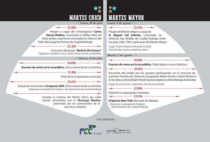Programa Ciudad Rodrigo Martes Menor + Martes Mayor 2018