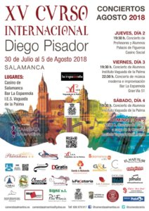 Salamanca XV Curso Internacional Diego Pisador Agosto 2018
