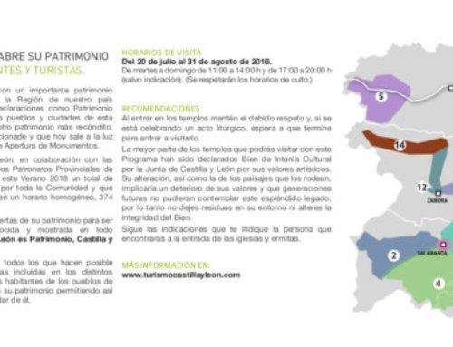 Será una treintena de monumentos los que Salamanca, ciudad y provincia, abrirá durante este verano de 2018.