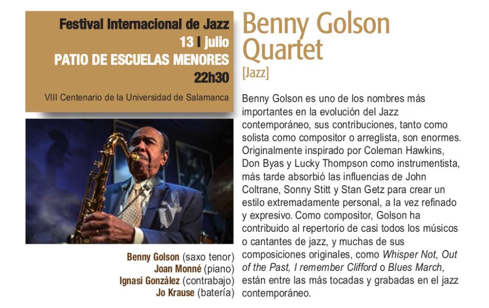 Escuelas Menores Benny Golson Quartet Plazas y Patios Salamanca Julio 2018