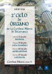 Catedral Nueva II Ciclo de Órgano Salamanca Julio 2018