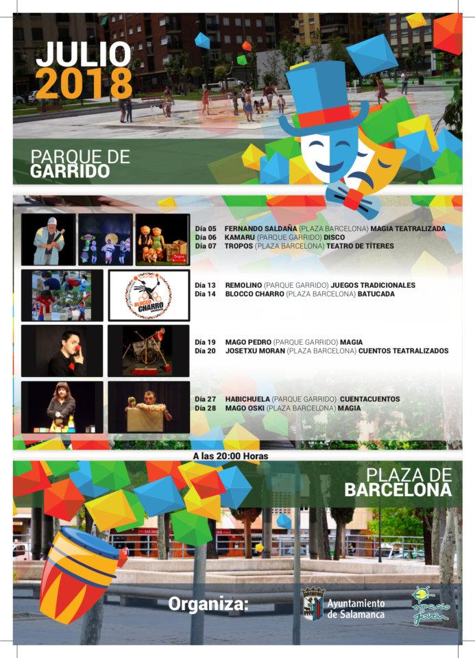 Garrido Actividades Julio 2018 Salamanca
