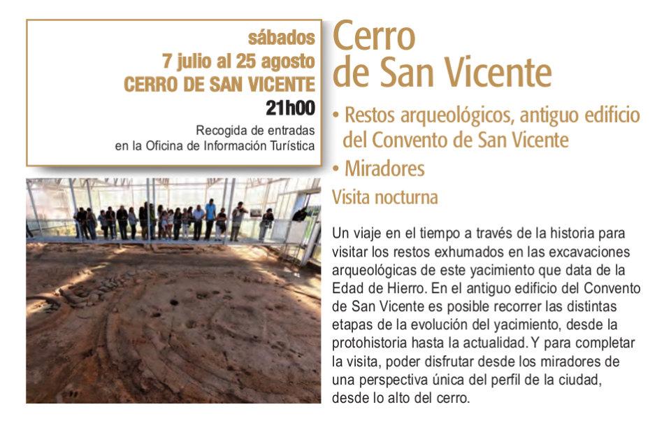 Cerro de San Vicente Visitas Guiadas Plazas y Patios Salamanca Julio agosto 2018