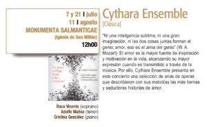 Monumenta Salmanticae Cythara Ensemble Plazas y Patios Salamanca Julio 2018
