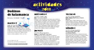 Doñinos de Salamanca Noches de Cultura Julio 2018