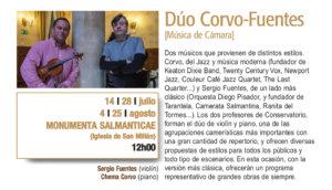 Monumenta Salmanticae Dúo Corvo-Fuentes Plazas y Patios Salamanca Julio agosto 2018