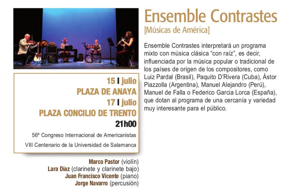 Plaza de Anaya Ensemble Contrastes Plazas y Patios Salamanca Julio 2018